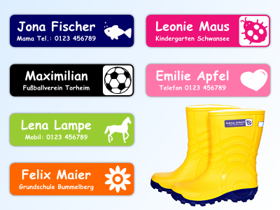 Stick-On Name Labels Set of 36