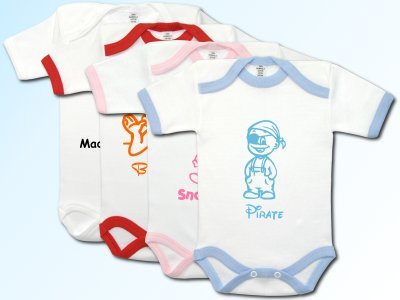 Baby Bodysuit short with Motif