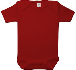 Baby Bodysuit short, Baby Body - Uni Red