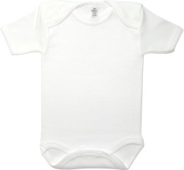 Baby Bodysuit short, Baby Body - Uni White