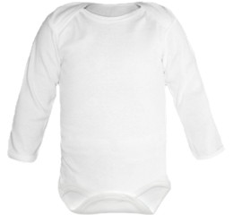 Baby Bodysuit long, Baby Body - Uni White