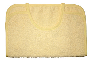 Embroidered Bib - Light yellow (1)