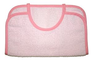Embroidered Bib - Light pink (2)