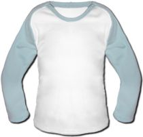 Windel Winni Baby Baseball Shirt - Light Blue
