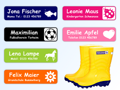 Stick-On Name Labels